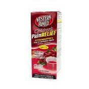 Western Family Children's Cherry Flavor Pain Relief Acetaminophen Liquid