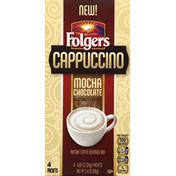 Folgers Coffee Beverage Mix, Instant, Mocha Chocolate Cappuccino