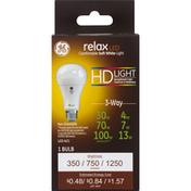 GE Light Bulb, LED, 3-Way, Soft White, 4/7/13 Watts
