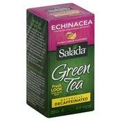 Salada Green Tea, Echinacea, Honey Lemon Flavored, Decaffeinated, Bags