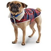 Petco Wag-a-tude Red & Navy Plaid Dog Jacket, Large
