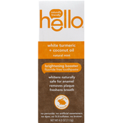 hello Fluoride Free Toothpaste, Brightening Booster, Natural Mint, White Turmeric + Coconut Oil