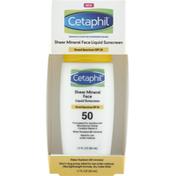 Cetaphil Liquid Sunscreen, Sheer Mineral, Face, SPF 50