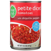 Food Club Petite Diced Tomatoes With Chipotle Peppers