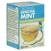 Eden Green Tea, Organic Sencha Mint, Bags