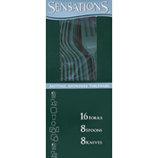 Sensations Cutlery, Hunter Green, Assorted Box