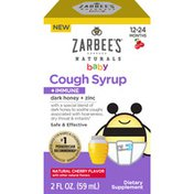 Zarbee's Naturals Baby Cough Syrup + Immune with Honey, Natural Cherry Flavor