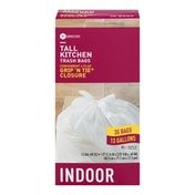 Southeastern Grocers Tall Kitchen Bags Grip 'N Tie Closure Indoor - 35 CT