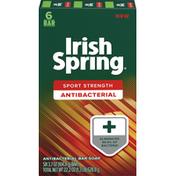 Irish Spring Bar Soap, Antibacterial, Sport Strength, 6 Bar