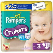 Pampers Cruisers Jumbo Pack Size 3 Diapers