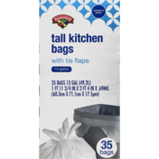 Hannaford Tall Kitchen Trash Bags with Tie Flaps