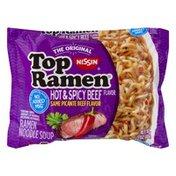 Nissin Top Ramen Ramen Noodle Soup Hot & Spicy Beef