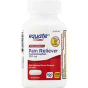 Equate Pain Reliever, Extra Strength, 500 mg, Adults, Caplets