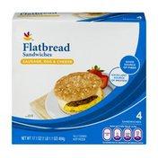 SB Flatbread Sandwiches Sausage, Egg & Cheese - 4 CT