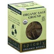 Spicely Organics Sage, Ground, Organic, Box