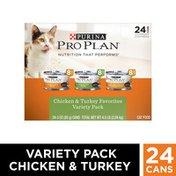 Purina Pro Plan Gravy Wet Cat Food Variety Pack, Chicken & Turkey Favorites