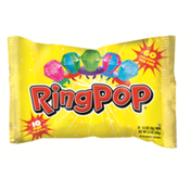 Ring Pop Individually Wrapped Bulk Lollipop Variety Pack – 10 Count Lollipop Suckers w/ Assorted Flavors - Fun Candy for Birthdays and Celebrations