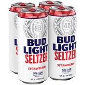 Bud Light Hard Seltzer Strawberry, Cans