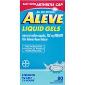 Aleve Pain Reliever/Fever Reducer, Liquid Gels, Easy Open Arthritis Cap