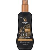 Australian Gold Spray Gel Sunscreen, Instant Bronzer, Broad Spectrum SPF 4