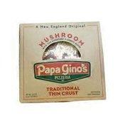 Papa Gino's Thin Crust Mushroom Pizza