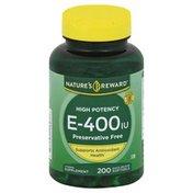Nature's Reward Vitamin E-400, High Potency, Quick Release Softgels