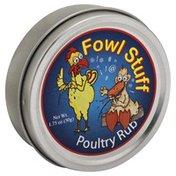 Dean Jacob's Poultry Rub, Fowl Stuff, Can