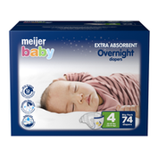 Meijer Premium Baby Overnight Diapers Size 4