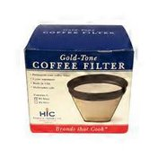 Harold Import Co. Gold Tone Coffee Filter #2 Boxed