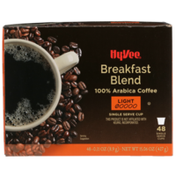 Hy-Vee Light Roast Breakfast Blend 100% Arabica Coffee Single Serve Cups