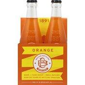 Boylan Bottling Soda, Orange, 4 Pack