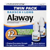 Bausch & Lomb Alaway Allergy Eye Itch Relief Twin Pack