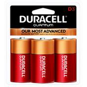 Duracell Batteries, Alkaline, D, 3 Pack