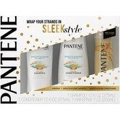 Pantene Mixed Pantene Smooth & Sleek Shampoo & Conditioner (12.6 fl oz and 12.0 fl oz) with Pantene Airspray (7 fl oz) Set Female Hair Care