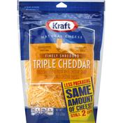 Kraft Triple Cheddar Finely Shredded Shredded Cheese