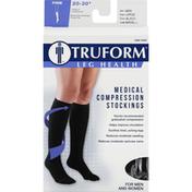 Truform Below Knee Stockings, Medical Compression, Firm, Black, Large