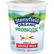 Stonyfield® Organic Vanilla Whole Milk Probiotic Yogurt