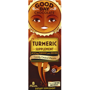 Good Day Chocolate Turmeric Supplement, Candy Coated Pieces