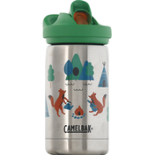 Camelbak Tumbler, Eddy + Kids, SST Vacuum Insulated, Camping Foxes, 12 Ounce
