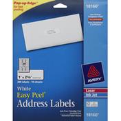 Avery Address Labels, Easy Peel, White