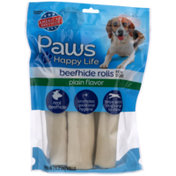 Paws Happy Life Plain Flavor Beefhide Rolls For Dogs