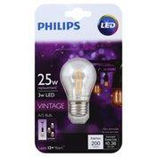 Philips Light Bulb, LED, Vintage, 3 Watts