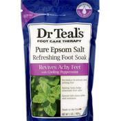 Dr. Teal's Pure Epsom Salt, Refreshing Foot Soak