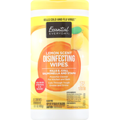 Essential Everyday Wipes, Disinfecting, Lemon Scent