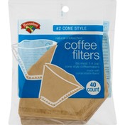 Hannaford #2 Cone Style Natural Unbleached Coffee Filters