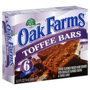 Oak Farms Toffee Bars, with Chocolate Flavored Coating