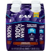 EAS Chocolate EAS 100% Whey Protein Shake Chocolate Ready-to-Drink Bottles
