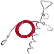Coastal 15 Ft Tie Out Combo Spiral Stake