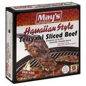 Mays Sliced Beef, Teriyaki, Hawaiian Style