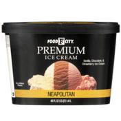 Food City Neapolitan Vanilla, Chocolate, & Strawberry Premium Ice Cream